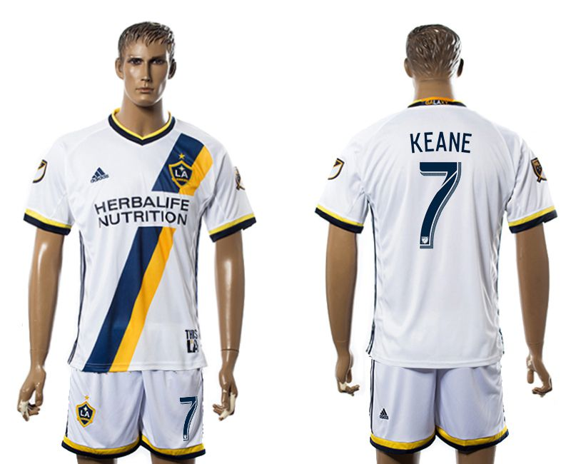 Men 2017-2018 club LA Galaxy home 7 white soccer jersey