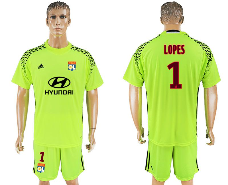 Men 2017-2018 club Leon goalkeeper 1 fluorescent green soccer jersey