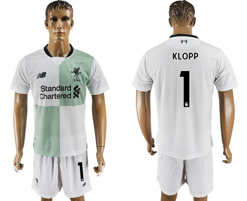 Men 2017-2018 club Liverpool away 1 white soccer jersey
