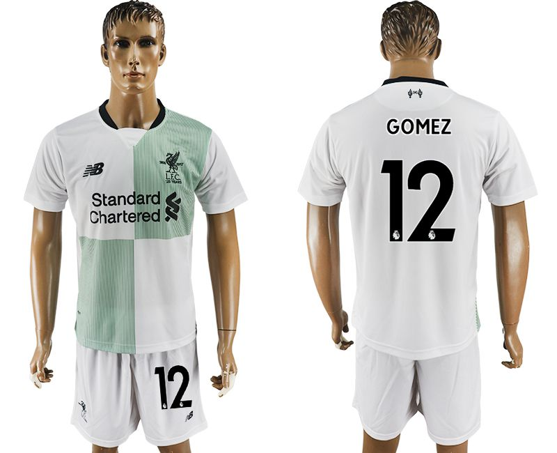 Men 2017-2018 club Liverpool away 12 white soccer jersey