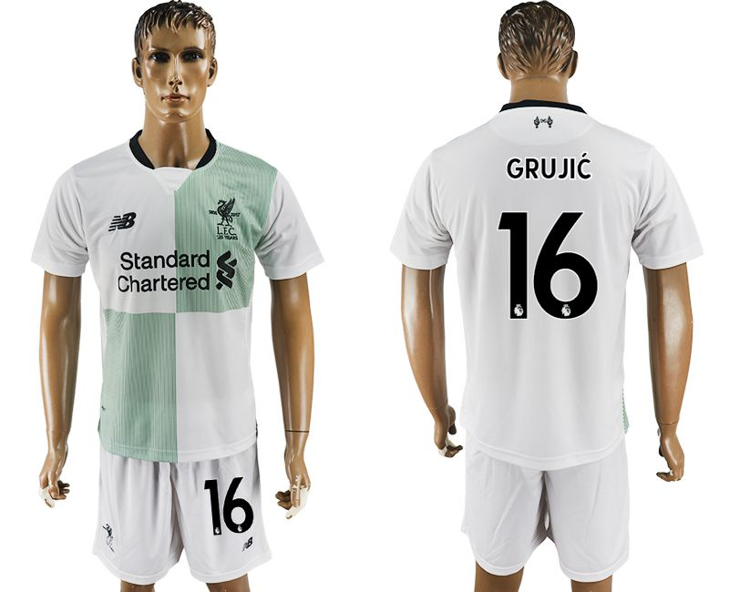 Men 2017-2018 club Liverpool away 16 white soccer jersey