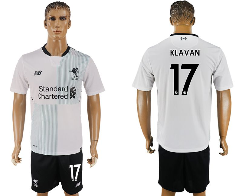Men 2017-2018 club Liverpool away 17 white soccer jersey1