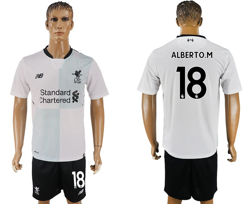 Men 2017-2018 club Liverpool away 18 white soccer jersey1
