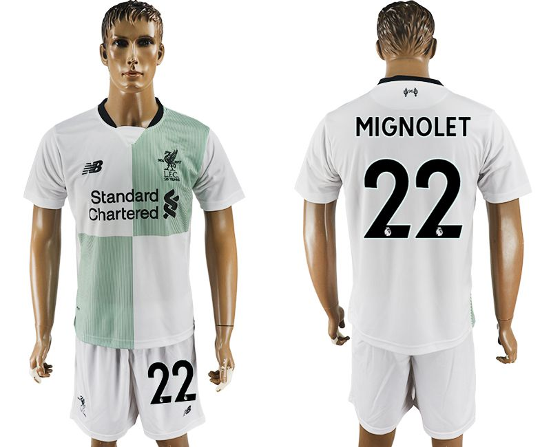Men 2017-2018 club Liverpool away 22 white soccer jersey