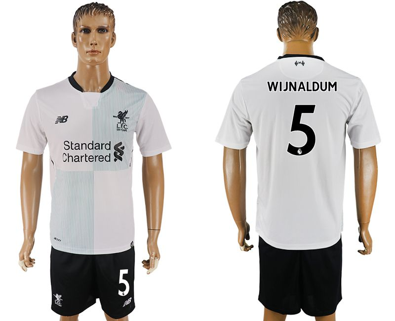 Men 2017-2018 club Liverpool away 5 white soccer jersey1