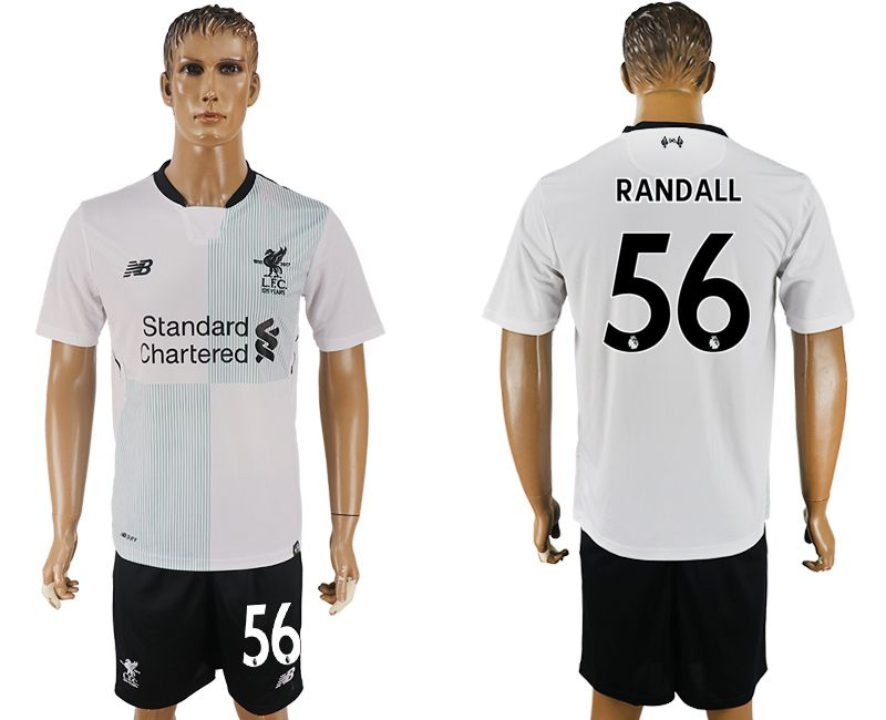 Men 2017-2018 club Liverpool away 56 white soccer jersey1