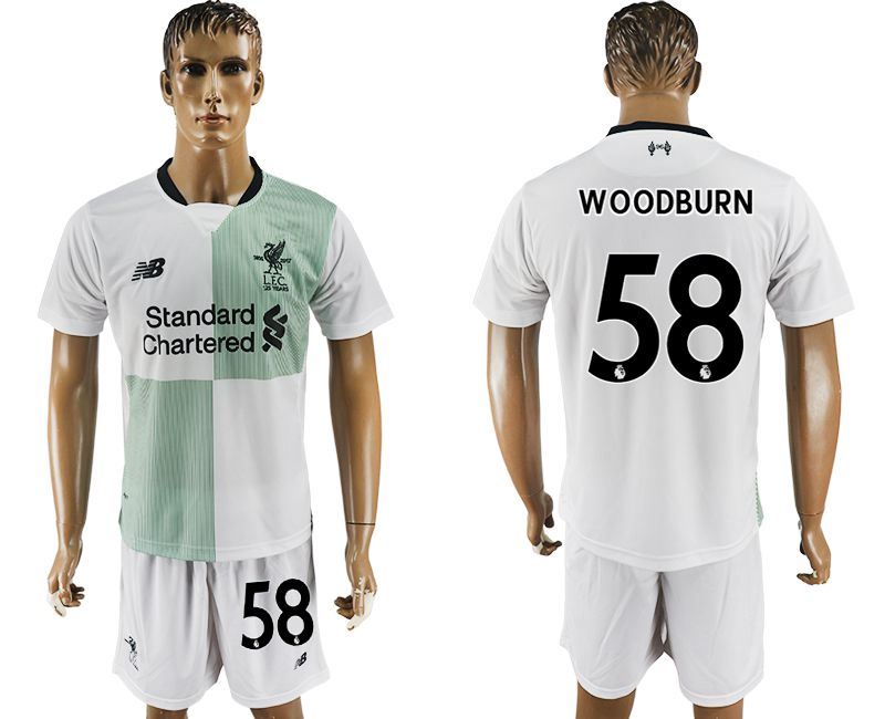 Men 2017-2018 club Liverpool away 58 white soccer jersey