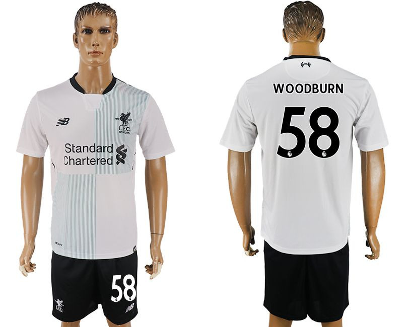 Men 2017-2018 club Liverpool away 58 white soccer jersey1