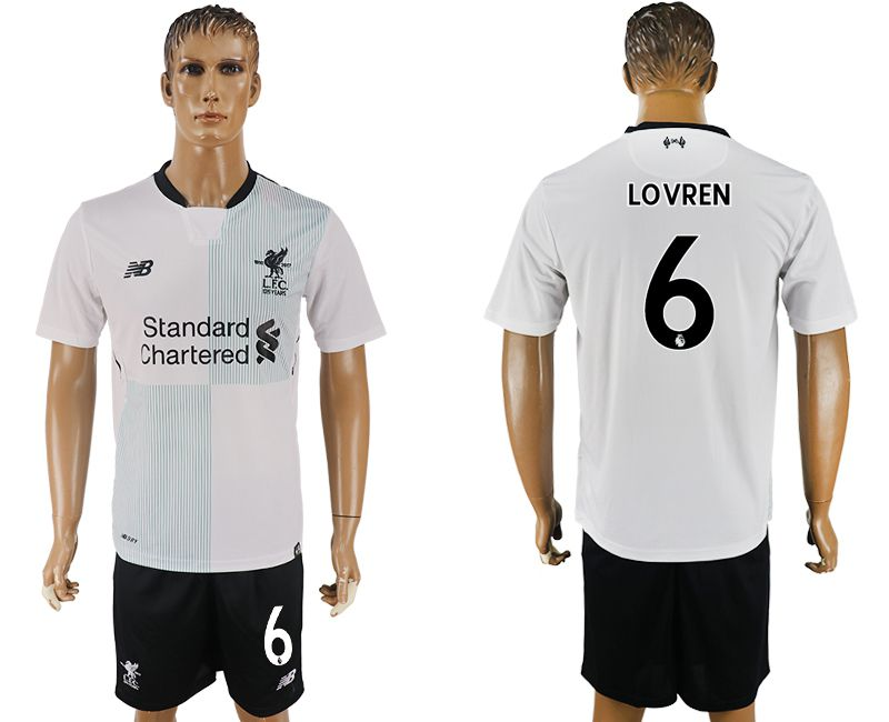 Men 2017-2018 club Liverpool away 6 white soccer jersey1