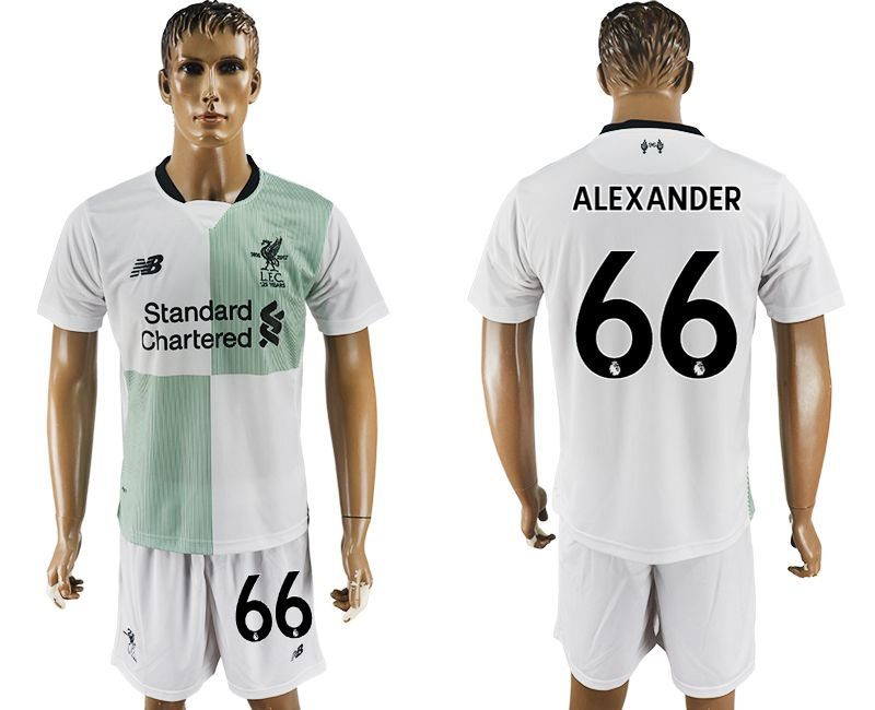 Men 2017-2018 club Liverpool away 66 white soccer jersey