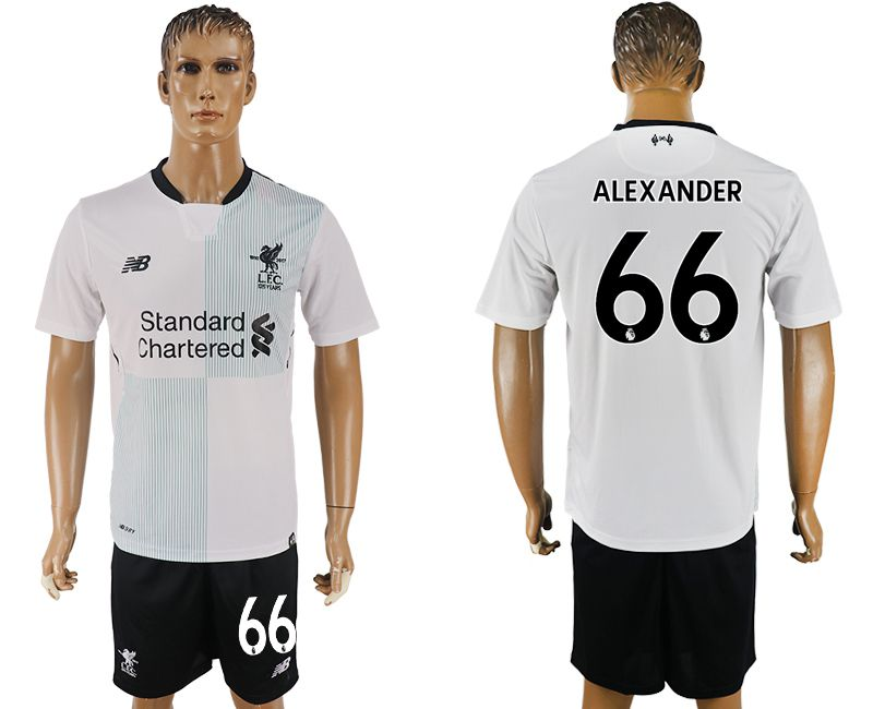 Men 2017-2018 club Liverpool away 66 white soccer jersey1