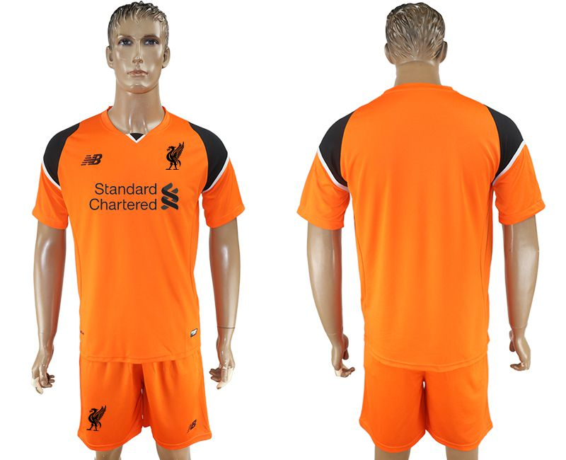 Men 2017-2018 club Liverpool goalkeeper blank orange soccer jersey