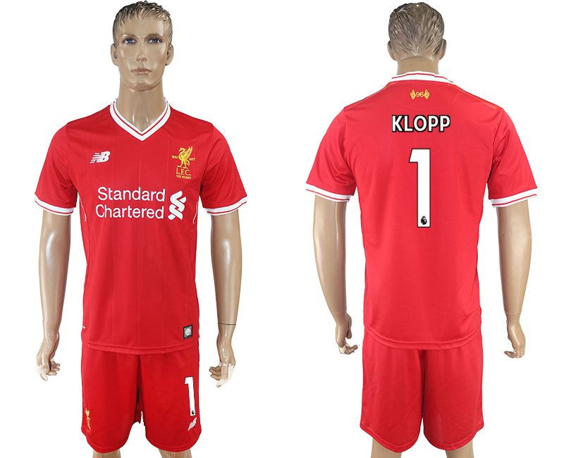 Men 2017-2018 club Liverpool home 1 red soccer jersey