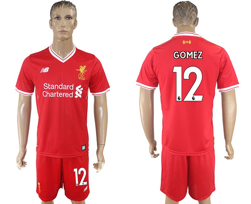 Men 2017-2018 club Liverpool home 12 red soccer jersey