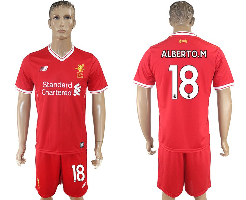 Men 2017-2018 club Liverpool home 18 red soccer jersey