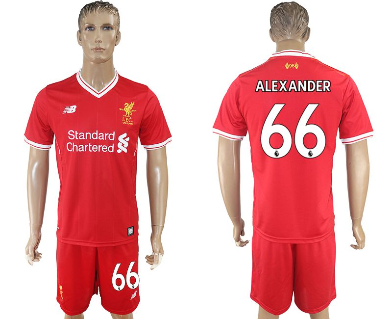 Men 2017-2018 club Liverpool home 66 red soccer jersey