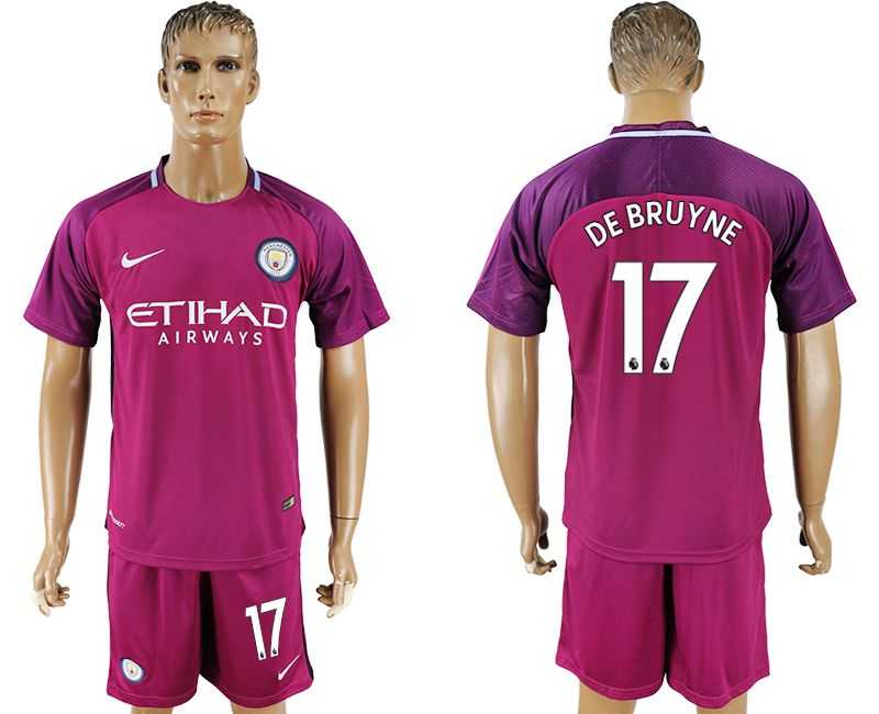 Men 2017-2018 club Manchester city away 17 red soccer jersey