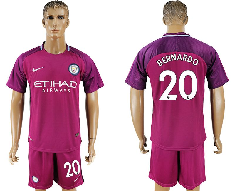 Men 2017-2018 club Manchester city away 20 red soccer jersey