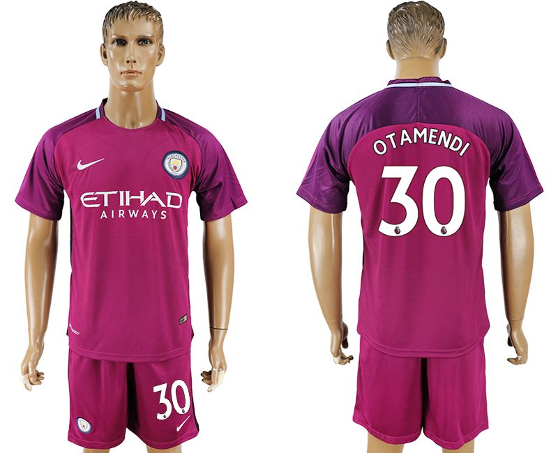 Men 2017-2018 club Manchester city away 30 red soccer jersey