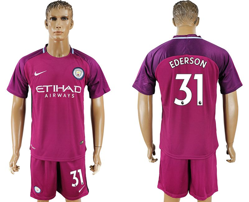 Men 2017-2018 club Manchester city away 31 red soccer jersey