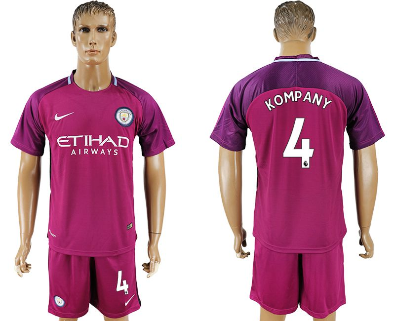 Men 2017-2018 club Manchester city away 4 red soccer jersey