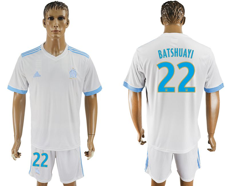 Men 2017-2018 club Marseille home 22 white soccer jersey