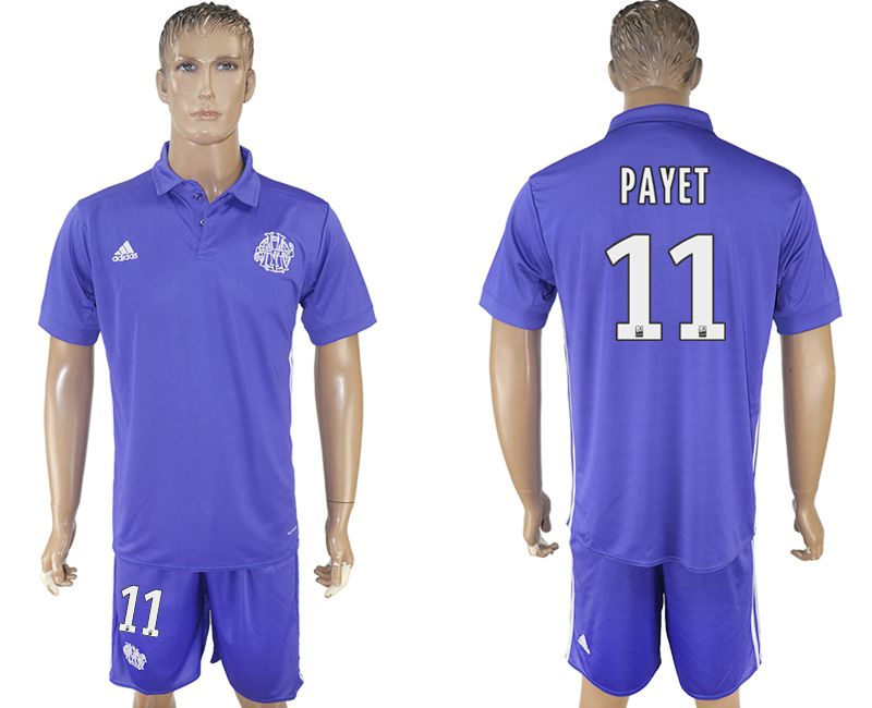 Men 2017-2018 club Marseille second away 11 purple soccer jersey