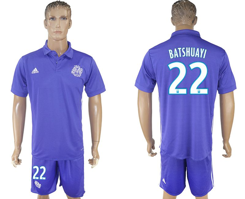 Men 2017-2018 club Marseille second away 22 purple soccer jersey