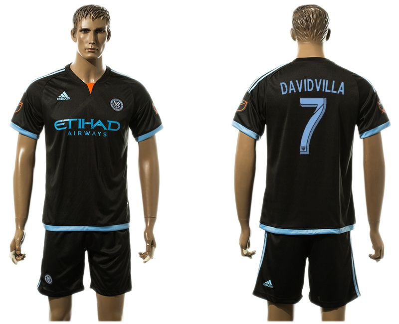 Men 2017-2018 club New York City FC away 7 black soccer jersey