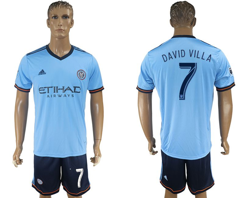 Men 2017-2018 club New York City FC home 7 blue soccer jersey