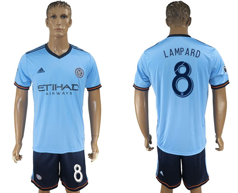 Men 2017-2018 club New York City FC home 8 blue soccer jersey