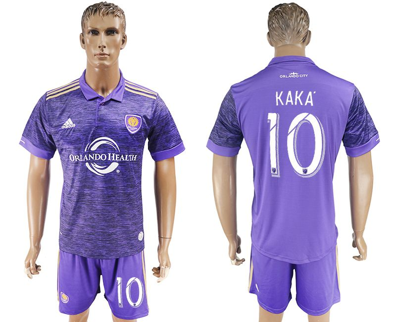 Men 2017-2018 club Orlando City home 10 purple soccer jersey