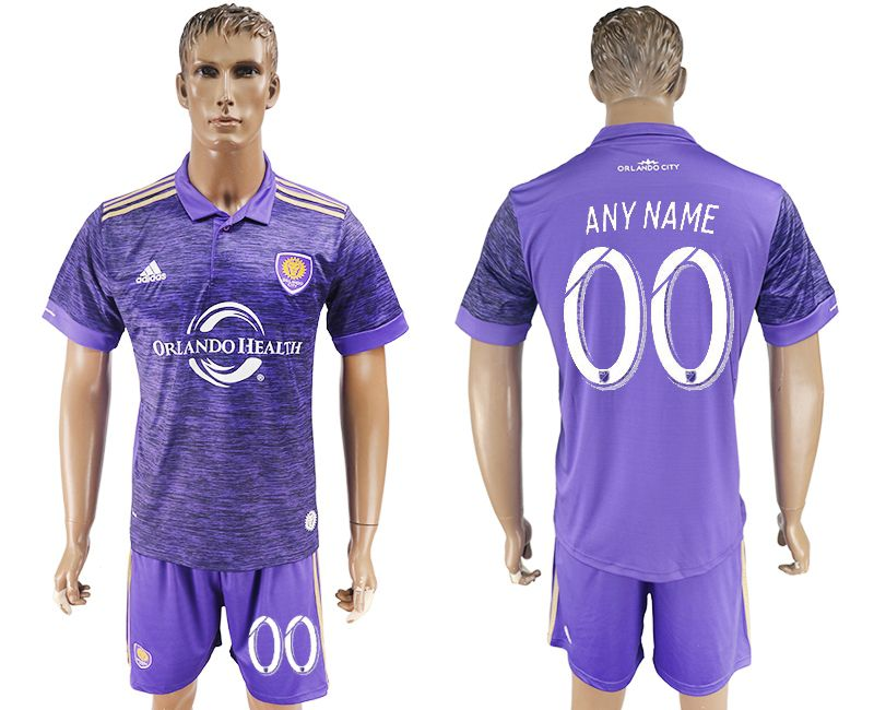 Men 2017-2018 club Orlando City home customized purple soccer jersey