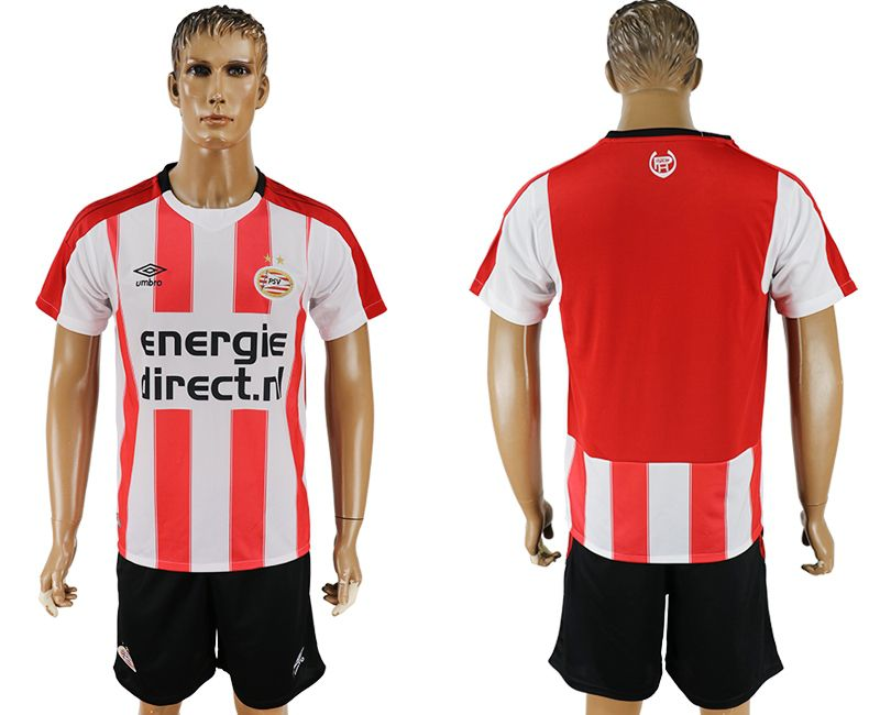 Men 2017-2018 club PSV Eindhoven home blank red soccer jersey