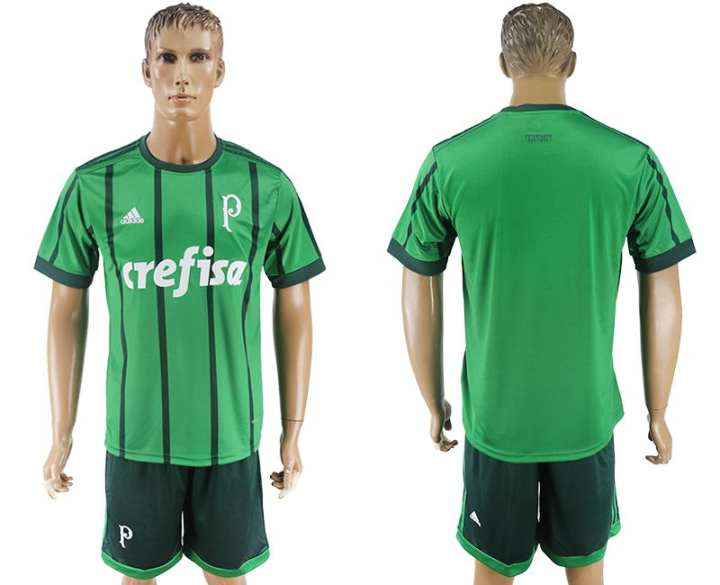 Men 2017-2018 club Palmeiras home blank green soccer jersey