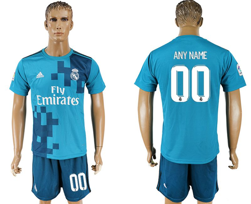 Men 2017-2018 club Real Madrid away customized blue soccer jersey