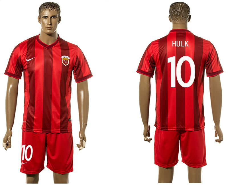 Men 2017-2018 club Shanghai upper port group home 10 red soccer jersey