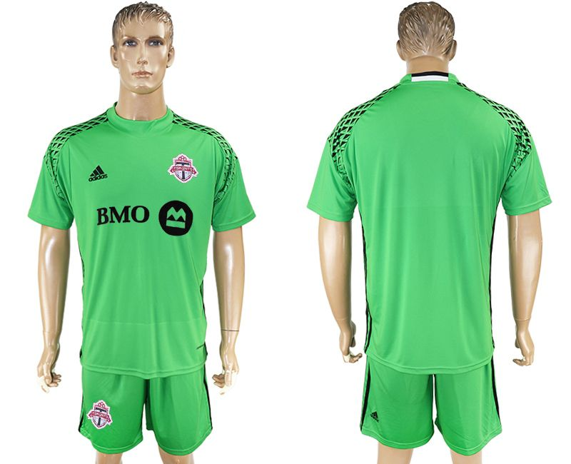 Men 2017-2018 club Toronto FC goalkeeper blank green soccer jersey