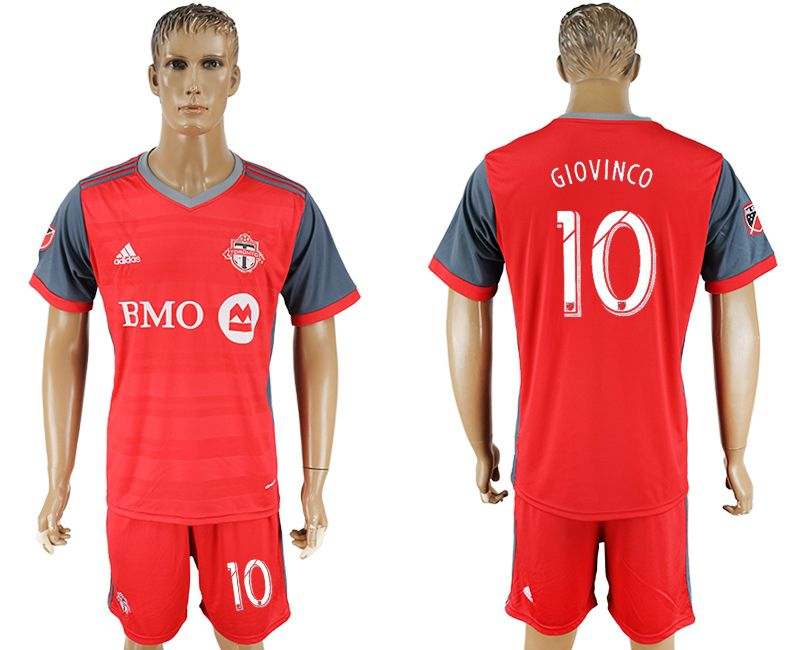 Men 2017-2018 club Toronto FC home 10 red soccer jersey