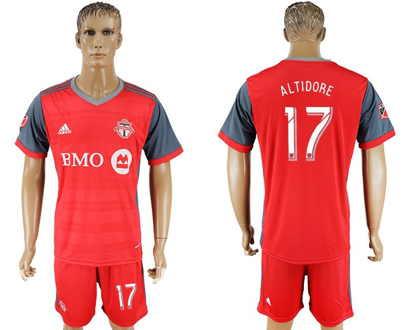 Men 2017-2018 club Toronto FC home 17 red soccer jersey