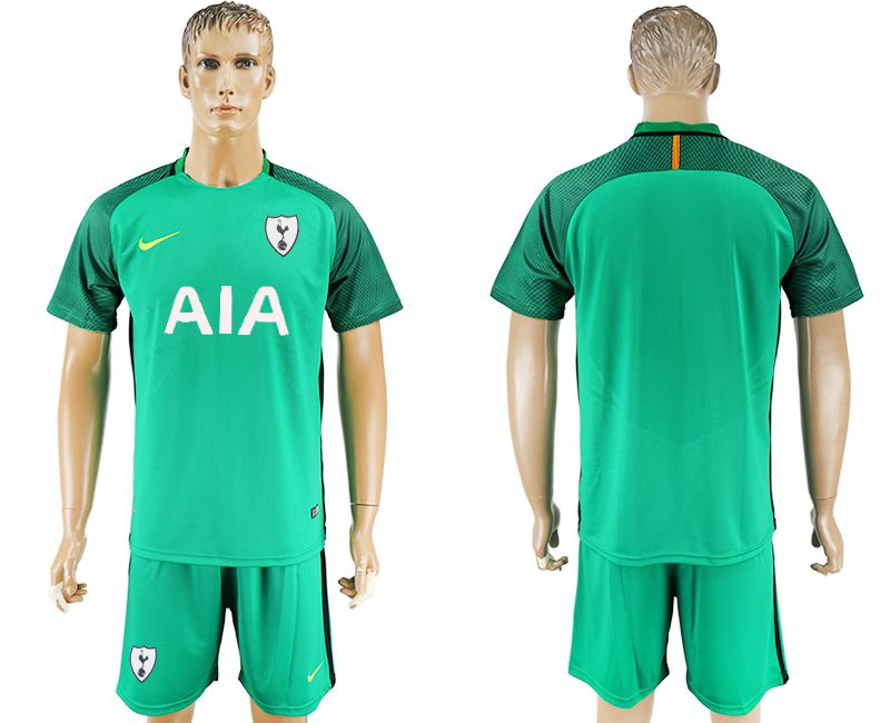 Men 2017-2018 club Tottenham Hotspur goalkeeper blank green soccer jersey