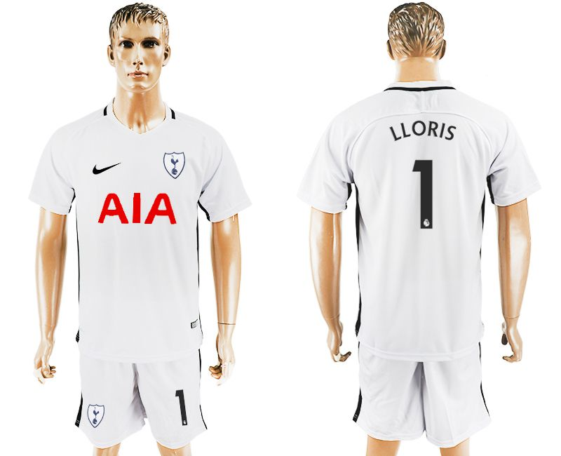 Men 2017-2018 club Tottenham Hotspur home 1 white soccer jersey1