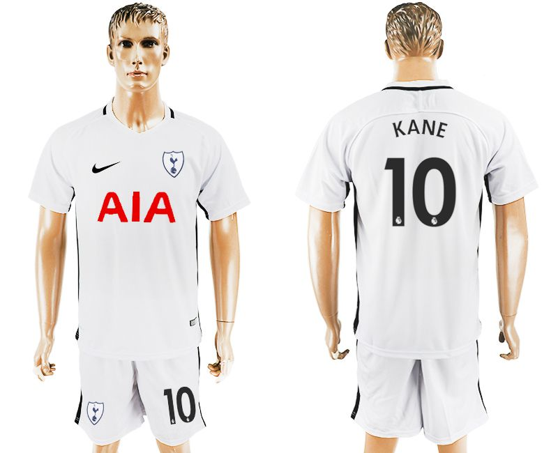 Men 2017-2018 club Tottenham Hotspur home 10 white soccer jersey1