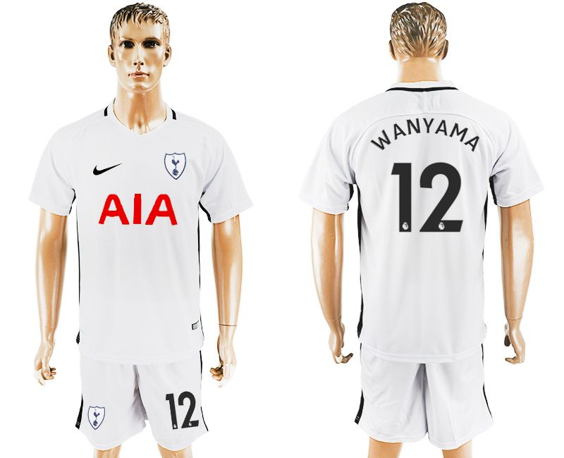 Men 2017-2018 club Tottenham Hotspur home 12 white soccer jersey1