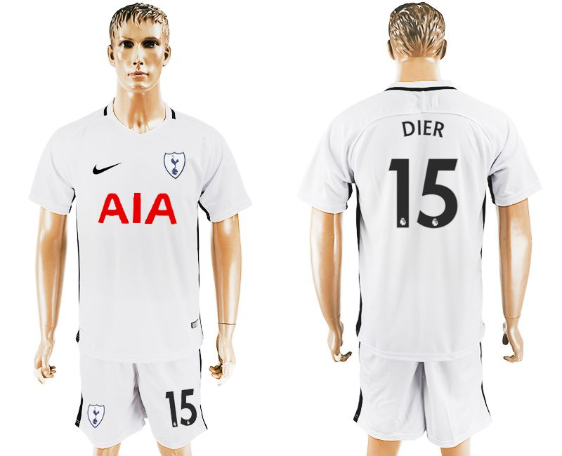 Men 2017-2018 club Tottenham Hotspur home 15 white soccer jersey1