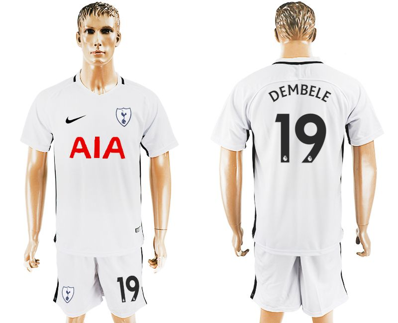 Men 2017-2018 club Tottenham Hotspur home 19 white soccer jersey1