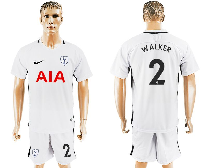 Men 2017-2018 club Tottenham Hotspur home 2 white soccer jersey1