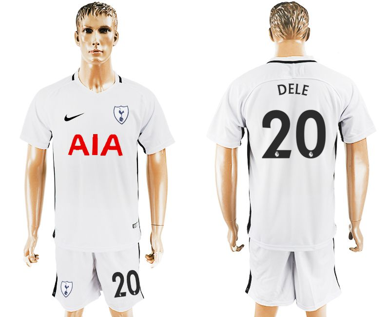 Men 2017-2018 club Tottenham Hotspur home 20 white soccer jersey1