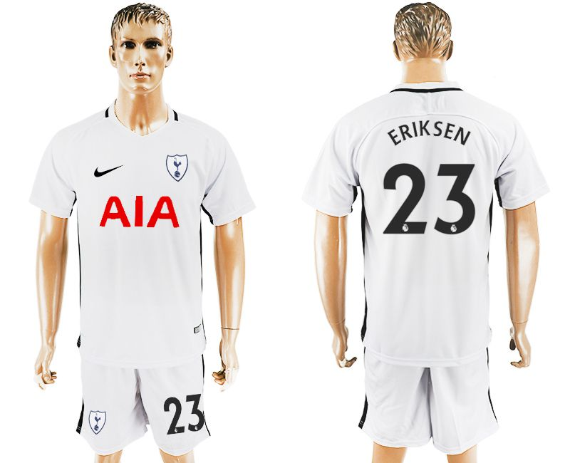 Men 2017-2018 club Tottenham Hotspur home 23 white soccer jersey1