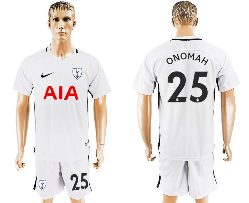 Men 2017-2018 club Tottenham Hotspur home 25 white soccer jersey1